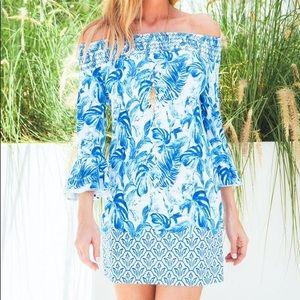 Cabana Life Palm Desert Off Shoulder Dress NWT SPF 50 Large